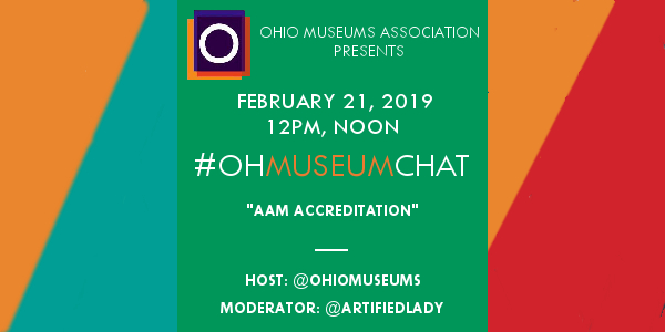 Join us tomorrow for the February 2019 #OHMuseumChat!